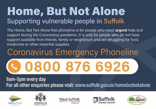 Home, But Not Alone Helpline 0800 876 6926